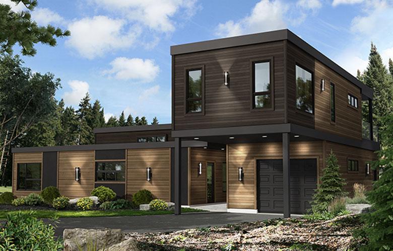 Maison à étages modulaire évasion nature