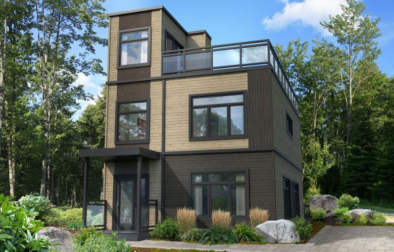 Maison à étages modulaire horizon