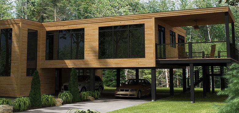 Maison à étages modulaire espace