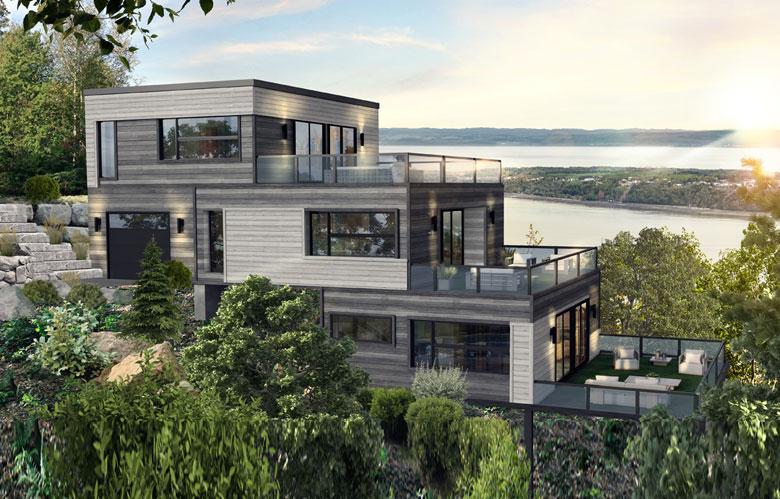 Maison à étages modulaire odysée