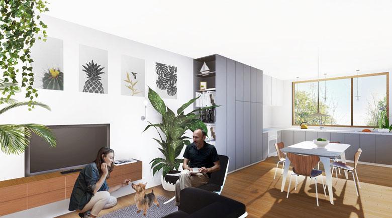Maison modulaire Série M intérieur